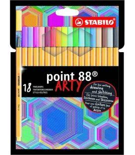 Μαρκαδοράκια 88 Stabilo Point 0.4 Arty set Σετ 18τμχ