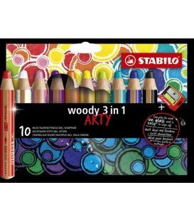 Μολύβια Arty Woody Stabilo 10χρ