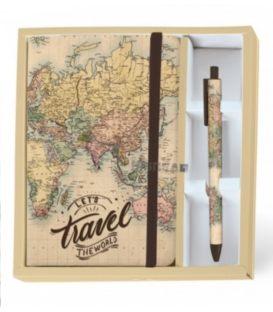 Σημειωματάριο A5 i-Total Maps με Στυλό