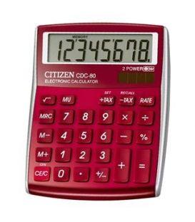 Αριθμομηχανή Citizen 8ψ CDC-80RD Red