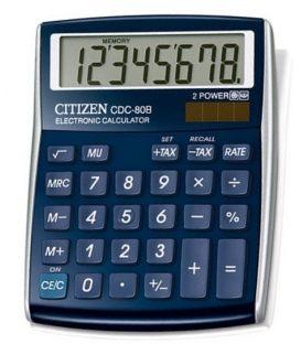 Αριθμομηχανή Citizen 8ψ CDC-80BL Blue