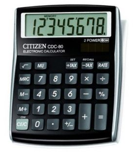 Αριθμομηχανή Citizen 8ψ CDC-80BK Black