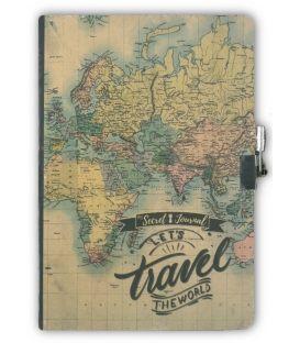 Σημειωματάριο A5 i-Total Maps Με Κλειδί