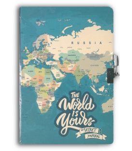 Σημειωματάριο A5 i-Total World Με Κλειδί