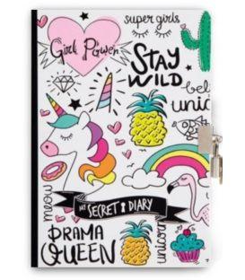 Σημειωματάριο A5 i-Total Unicorn Με Κλειδί