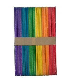 Ξυλάκια Παγωτού PaperF 48τ Μεγάλο Colors