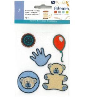 Αυτοκόλλητα Artemio Υφασμα Παιδικά Αρκουδάκι