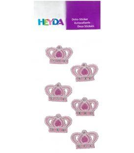 Αυτοκόλλητα Heyda Στέμμα Ροζ