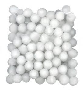 Πομ Πομ Paperf 2cm 100τ Λευκό
