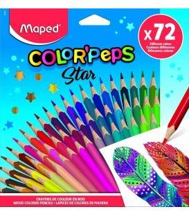 Ξυλομπογιές Maped 72χρ Star ColorPeps