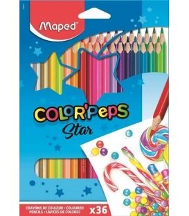 Ξυλομπογιές Maped 36χρ Star ColorPeps