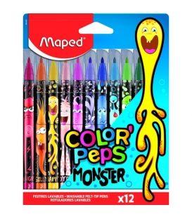 Μαρκαδόροι Maped 12χρ Monster ColorPeps