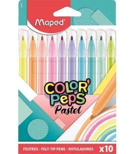 Μαρκαδόροι Maped 10χρ Pastel ColorPeps