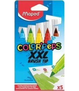 Μαρκαδόροι Maped 5χρ XXL Brush Tip ColorPeps Πινέλο