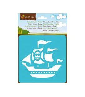 Στένσιλ Σετ 6 Σχέδια Πειρατές Anenue Mandarine
