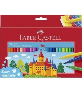 Μαρκαδόροι Faber Castell 50χρ Super Washable