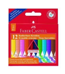 Λαδοπαστέλ 12χρ Faber Castell Grip Erasable