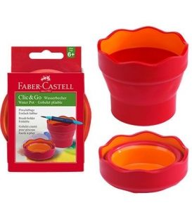 Δοχείο Τέμπερας & Νερομπογιάς Faber Castell RED