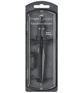 Διαβήτης Faber Castell Stream Black με Ροδέλα