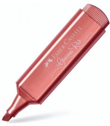 Μαρκαδόρος 46 Faber Castell Glorious Red Μetallic Textliner