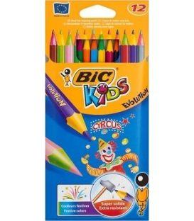Ξυλομπογιές Bic 12χρ Circus Ζωντανά Χρώματα