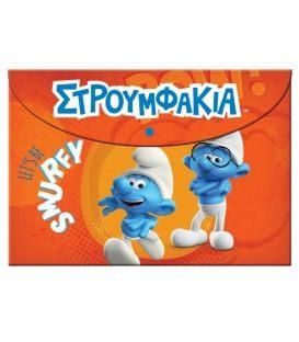 Φάκελος με Κουμπί Α4 PP Smurfs 344-20580