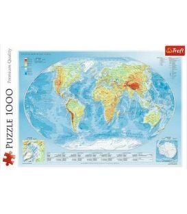 Παζλ 1000κ Trefl Physical map of the world 10463