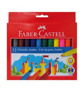 Μαρκαδόροι Jumbo Faber Castell 12 Χρώματα