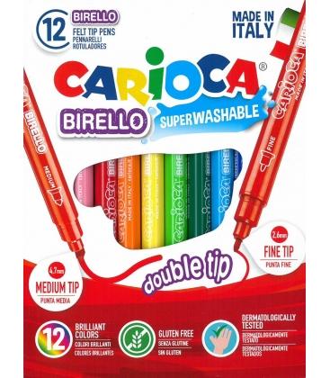 Μαρκαδόροι 12 χρ. (διπλοί) Birello Superwashable Carioca