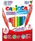 Μαρκαδόροι Carioca 12 χρ. (διπλοί) Birello Superwashable