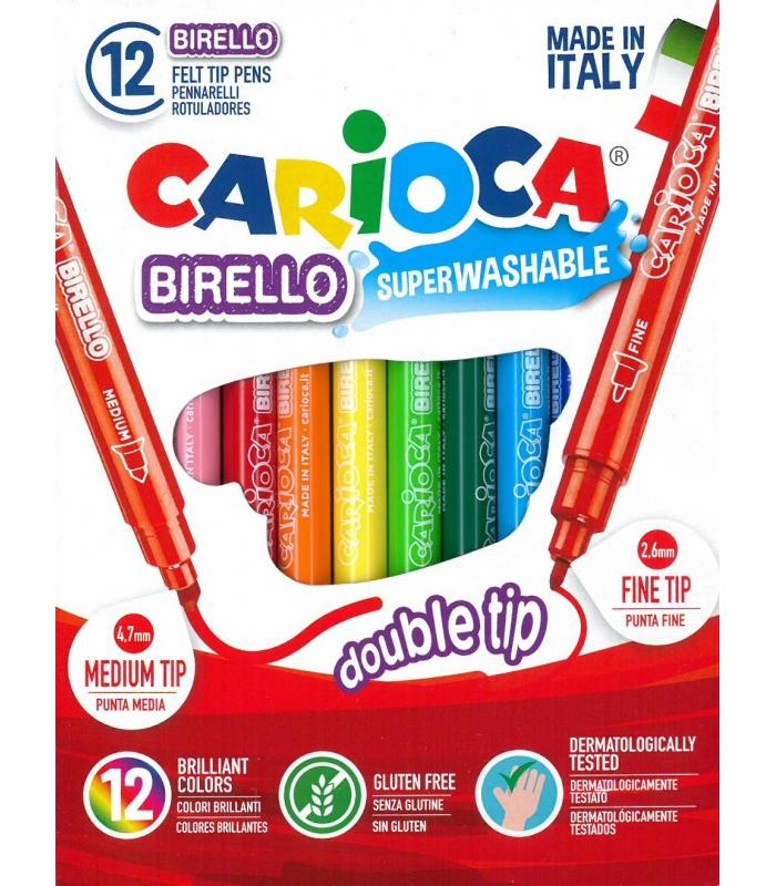 3781df55ba Μαρκαδόροι Carioca 12 χρ. (διπλοί) Birello Superwashable - ΕΠΙΠΕΔΟ ...