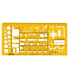 Στένσιλ Αρχιτεκτονικό 1:100 Rotring