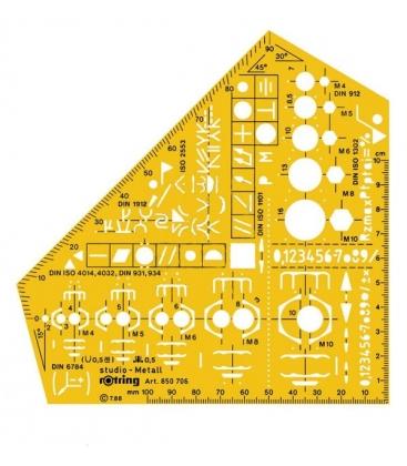 Στενσιλ Μηχανολόγων Μηχανικών Rotring