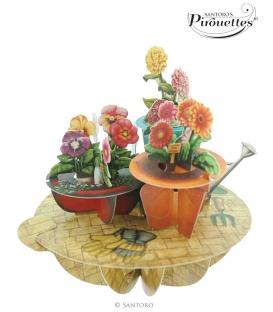 Κάρτα Λουλούδια 3D Santoro