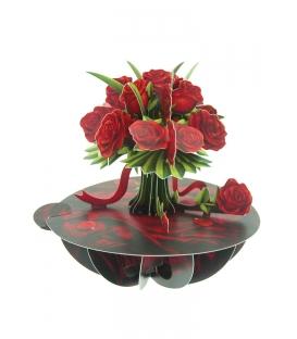 Κάρτα Τριαντάφυλλα 3D Santoro