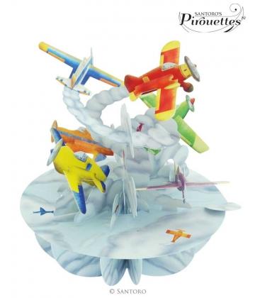 Κάρτα Αεροπλανάκι 3D Santoro