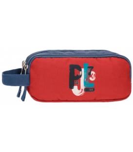 Κασετίνα Pepe Jeans Τριπλή red blue