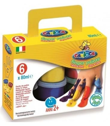 Δακτυλομπογιές Carioca 6 Χρ. Finger paints