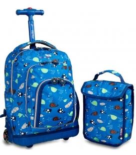 Σχολική Τσάντα Trolley Seaword με φως