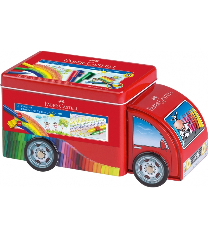 2b859da965 Μαρκαδόροι ζωγραφικής Faber Castell CONNECTOR Κασετίνα Φορτηγό ...
