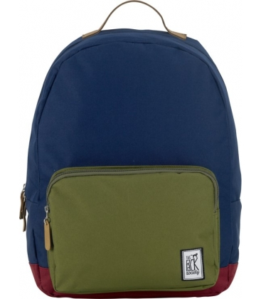 Classic Backpack Navy Olive Burgundy