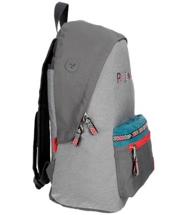 Σχολική Τσάντα Pepe Jeans KATIA Γκρι