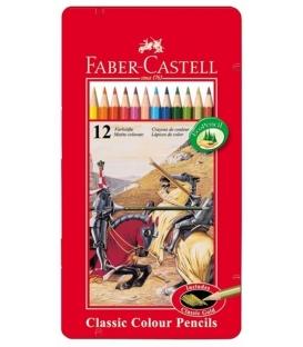 Ξυλομπογιές Faber Castell 12χρ. Μεταλλική Κασετίνα