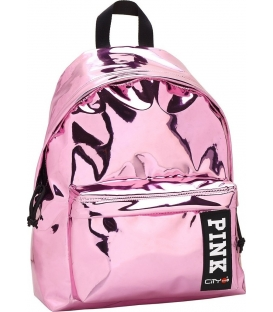 Σακίδιο πλάτης LYCsac City The Drop Trendy Mirror pink