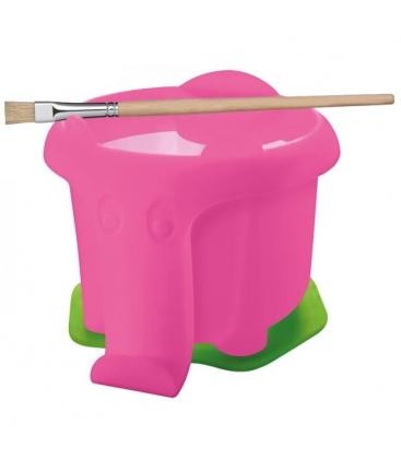 Ποτηράκι καθαρισμού πινέλων Ελεφαντάκι Pelikan Ροζ