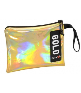 Τσαντάκι City Safe Pocket Trendy Gold Mirror