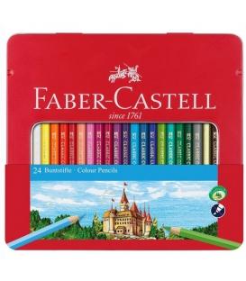 Ξυλομπογιές Faber Castell 24 Χρ. Μεταλλική Κασετίνα