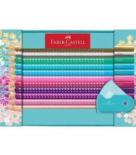 Ξυλομπογιές Faber Castell 20 Χρ. Μεταλ. Κασετινα