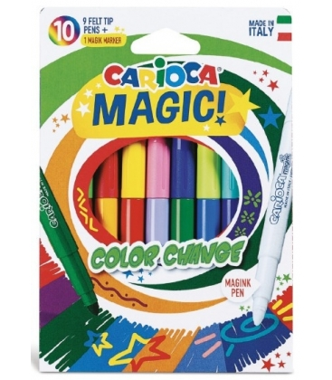 Μαρκαδόροι Carioca 10 Χρ. Magic Color Change