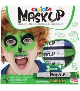 Μαρκαδόροι για το Πρόσωπο Carioca Mask Up Monster